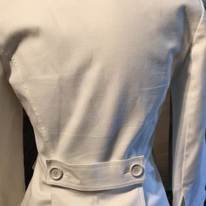 Carla G Jackets & Coats - Italian Fitted White Skirt Suit